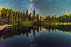 The Milky Way Galaxy with a lake reflection  Rocky mountain, Colorado (ebrahemhabibeh) Tags: