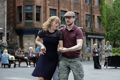 Edinburgh Swing Dance Society Grassmarket July 2019-2 (Philip Gillespie) Tags: edinburgh city urban swing dance society scotland grassmarket men women boys girls kids family friendly hands feet heads arms legs colour blue green red yellow castle outdoor outside canon 5dsr photography event workshops classes public lindy hop dresses hair faces shoes moving open spaces street pavement
