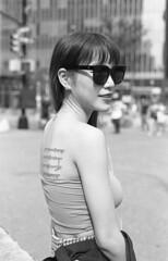 7xi-0701-011 (stephen sherman) Tags: film kentmere400 minolta7xl newyorkcity manhattan eastvillage astorplace streetstyle asiangirl bnw