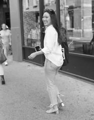 7xi-0701-027 (stephen sherman) Tags: film kentmere400 minolta7xl newyorkcity manhattan soho streetstyle asiangirl bnw