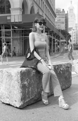 7xi-0701-010 (stephen sherman) Tags: film kentmere400 minolta7xl newyorkcity manhattan eastvillage astorplace streetstyle asiangirl bnw