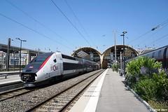 SNCF TGV Nice Ville (ilbassodigenova) Tags: sncf tgv high speed train nice ville gare railway