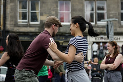 Edinburgh Swing Dance Society Grassmarket July 2019-57 (Philip Gillespie) Tags: edinburgh city urban swing dance society scotland grassmarket men women boys girls kids family friendly hands feet heads arms legs colour blue green red yellow castle outdoor outside canon 5dsr photography event workshops classes public lindy hop dresses hair faces shoes moving open spaces street pavement