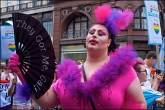 Pride London 2019 - DSCF2941a (normko) Tags: london pride parade 2019 regent street gay lesbian bi trans celebration protest rainbow fan theygotmegal
