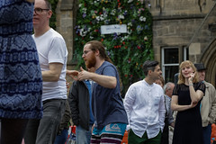 Edinburgh Swing Dance Society Grassmarket July 2019-88 (Philip Gillespie) Tags: edinburgh city urban swing dance society scotland grassmarket men women boys girls kids family friendly hands feet heads arms legs colour blue green red yellow castle outdoor outside canon 5dsr photography event workshops classes public lindy hop dresses hair faces shoes moving open spaces street pavement