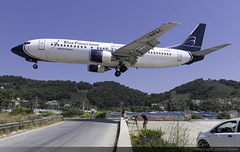Blue Panorama Boeing 737-4K5 I-BPAC @ Skiathos Airport (LGSK/JSI) (Joshua_Risker) Tags: skiathos airport lgsk jsi island alexandros papadiamantis greece aircraft aviation plane planespotting planespotter avgeek jet boeing 737 737400 b734 7374k5 b blue panorama bpa ibpac