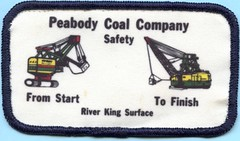 Peabody Coal Company Patch (Coalminer5) Tags: coalmining coalminer coalmemorabilia coalcollectibles mining miningmemorabilia miningcollectible miningartifacts miner stripmine surfacemine surfaceminer surfacemining stripminer stripmining sewonpatch memorabilia sinclaircounty freeburgil freeburgillinois freeburg illinoiscoal peabodycoal peabodyenergy peabody riverking peabodyriverking riverkingsurface powerforprogress dragline bucyruserie