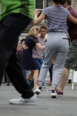 Edinburgh Swing Dance Society Grassmarket July 2019-48 (Philip Gillespie) Tags: city family girls urban men feet boys kids scotland dance hands women edinburgh swing friendly society grassmarket street blue red colour green castle public yellow canon hair outside photography moving shoes open arms faces legs outdoor pavement event dresses heads hop lindy spaces workshops classes 5dsr