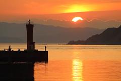 Bright (Teruhide Tomori) Tags: japan japon sun sunset landscape nature sky wakayama sea beach coast shore seashore water reflection light kada 加太 和歌山 日没 太陽 風景 関西 自然 夕日 夕焼け 日本 加太北ノ浜公園 埠頭 海岸 concordians happyplanet asiafavorites