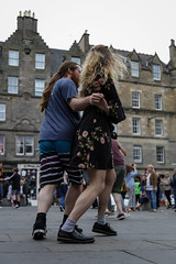 Edinburgh Swing Dance Society Grassmarket July 2019-44 (Philip Gillespie) Tags: edinburgh city urban swing dance society scotland grassmarket men women boys girls kids family friendly hands feet heads arms legs colour blue green red yellow castle outdoor outside canon 5dsr photography event workshops classes public lindy hop dresses hair faces shoes moving open spaces street pavement
