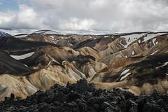 On top of Brennisteinsalda, Landmannalaugar. (Arno_vdb) Tags: iceland landmannalaugar volcano hill mountain hike canon 80d lava colours colourfull clouds travel highlands ngc