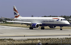 British Airways CityFlyer Embraer 190 G-LCAA @ Skiathos Airport (LGSK/JSI) (Joshua_Risker) Tags: skiathos airport lgsk jsi island alexandros papadiamantis greece aircraft aviation plane planespotting planespotter avgeek jet british airways ba baw cfe city flyer cityflyer embraer 190 e190 emb emb190 glcaa