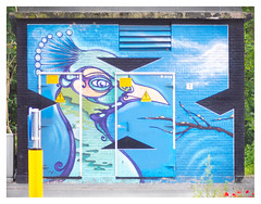 Transformer substation, pimped (leo.roos) Tags: mural straatkunst streetart muurschildering wallart muralism graffiti transformatorhuisje transformersubstation distributionsubstation thehague denhaag sportlaan daalenbergselaan blau muur muurwerk graff graffi hage a7 meyertrioplan10cm128 1936 trioplan10028 cmount cinelens moviecamera darosa leoroos graphitti grafitti graphiti blue