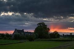 Sunset in De Hoef (Julysha) Tags: sunset evening clouds acr countryside summer dehoef farm boerderij rays d810 july 2019 thenetherlands sigma241054art tiffenhtndgrad