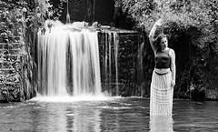 IMG_0341-Modifier-74 (CharLeePhot0graphy) Tags: portrait bw blackandwhite water waterfall blur frenchphotograph redhead longexposure