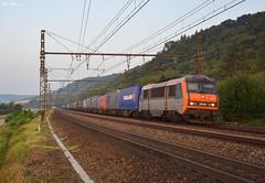 26000 béton (Marc_135) Tags: bb26000 bb262019 béton sybic fret ffretsncf combiné combi etigny matin 6h orange vert rail train modane sucy plm paris