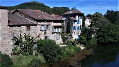 France:  St-Antonin-Nole-Val chambre d'hote by the Aveyron (ronmcbride66) Tags: france aveyron chambredhote marielacolline bananatrees riverbank stantoninnobleval frenchtown