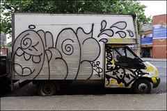 Oker / Ofske / Cos (Alex Ellison) Tags: oker gsd ofske lwi 406 cos cosa ac bioh etb drake boxtruck lorry southlondon tag urban graffiti graff boobs