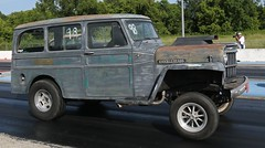 """1951 Willys Jeep """"Knuckle Heads"""" (Bill Jacomet) Tags: dirty south gassers super stockers stock dsg fcc funny car chaos pine valley raceway drag racing strip dragway tx texas 2019 lufkin"""