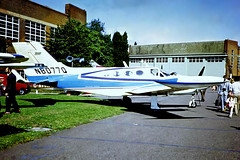 N8077Q   Cessna 421B Golden Eagle [421B-0107] Cranfield~G 03/09/1971 (raybarber2) Tags: 421b0107 cn421b0107 egtc filed flickr johnbabbagecollection n8077q planebase slide twinprop usacivil unlimitedphotos