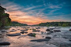 River Fun (Somsubhra Chatterjee) Tags: richmond rva ponypasture jamesriver river fun summer sunset rocks rapids