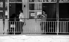 urban stories  (on the line to vote) (mare_maris) Tags: urban building people women streetphotography candid maremaris nikon voters greek elections light shadow pollingstation human woman waiting standing line moments greekelections greece hellas citizens dayshot sunshine future urbanshots photograph image