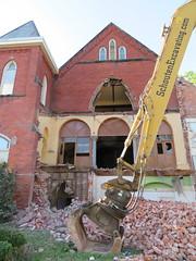 Demolition, Ontario Street Baptist Church (Sean_Marshall) Tags: demolition church stratford ontario