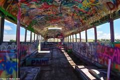 Inside That NW Bus (walkerross42) Tags: thatnwbus bus abandoned paint colors art graffiti washtucna washington palouse abstract windows interior