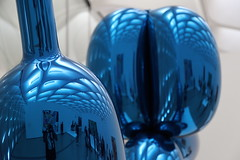 doggy style (Chuck Diesel) Tags: thebroad balloonanimals dog bluechrome reflective museum losangeles art installation