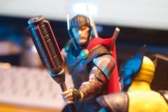 You the God of Screwdrivers, Bub? (misterperturbed) Tags: disney marvel mezco mezcoone12collective one12collective thor thorragnarok wolverine xmen