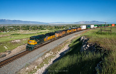 UP 1995 - Stansbury Park, UT (Wheelnrail) Tags: up union pacific chicago north western heritage unit up1995 emd sd70ace ig2la intermodal great salt lake city west is best rural mountain sunny train trains railroad rail road hill stansbury utah ut