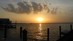 Seascape Sunset (Suzanham) Tags: seascape pier boardwalk sunset water ocean sea bay gulfshores alabama sundown marina