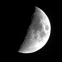 The Sea of Tranquility (StirlingCreative.com) Tags: moon lunar craters closeup zoom telephoto waxing crescent maine kennebunk nightsky astronomy astrophotography lune