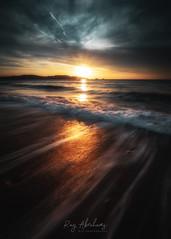 Early Light (RTA Photography) Tags: longexposure light sea sky reflection beach nature water clouds sunrise outdoors dawn nikon waves glow colours horizon devon d750 dreamy nikkor paignton 1835 torbay rtaphotography dawnsky dramaticseascape seascape nikond750