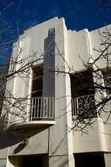 Art Deco through winter trees (Joe Lewit) Tags: variosonnart281635 apartments facade caulfield melbourne australia artdeco