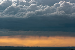 Sunset, storm building up & rain in the distance (deirdre.lyttle) Tags: sunset clouds rain stormclouds hwyno2