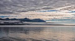 Smoke on the water (Zoom58.9) Tags: sky clouds mountain ocean sea water fog seascape nature outside europe iceland himmel wolken meer wasser seelandschaft natur draussen europa island
