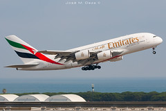 Emirates A380-861 A6-EOO (José M. Deza) Tags: 20190630 a380861 a6eoo airbus bcn elprat emirates lebl planespotting spotter aircraft