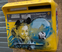 The painted letter box (tjmic_92) Tags: france bayonne paysbasque