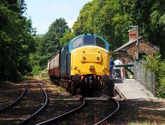37142 Boscarne Junction (3) (Marky7890) Tags: 37142 class37 boscarnejunction bodminwenfordrailway cornwall heritage diesellocomotive