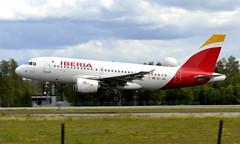 Iberia EC-JDL, OSL ENGM Gardermoen (Inger Bjørndal Foss) Tags: ecjdl iberia airbus a319 osl engm gardermoen