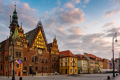Wroclaw (Thom O.) Tags: ifttt 500px old town steeple tower bell townscape city cityscape architecture travel street urban europe clouds sunrise poland