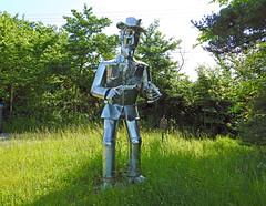 The Sheriff of Middleton, Suffolk (Linda 2409) Tags: sculpture sheriff guns metalsculpture