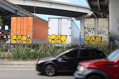 (Laugh now, smile later) Tags: graffiti bayarea eastbay oakland retroe scotyp ajar novel pakman savie tags