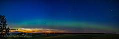 NLCs and Northern Lights (July 8, 2019) (Amazing Sky Photography) Tags: alberta aurora capella nlcs noctilucentclouds northern northernlights pmcs twilight borealis horizon panorama solstice