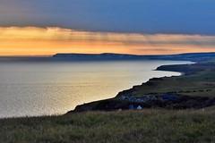 Coastline (Nige H (Thanks for 25m views)) Tags: nature landscape sea seascape coast coastline england isleofwight sky cloud sunset