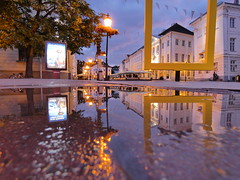 city centre (arvosoosalu) Tags: sky night nightphotography city clouds citylights tartu citycentre estonia nationalgeographic weather walk water reflection buildings architecture outdoor