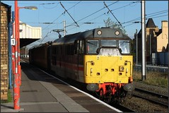 Fragonset's Inter City livery (Colin Partington) Tags: 20081031 31454 networkrail testtrain warrington warringtonbankquay cheshire