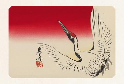 52-Carte postale // 10x15cm // Flying Crane