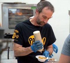 Chef Stephen Terry at Pub in the Park, Warwick (Tony Worrall) Tags: chef cook cooking stall man celeb dish food foodies eat make pubinthepark warwick chefstephenterry